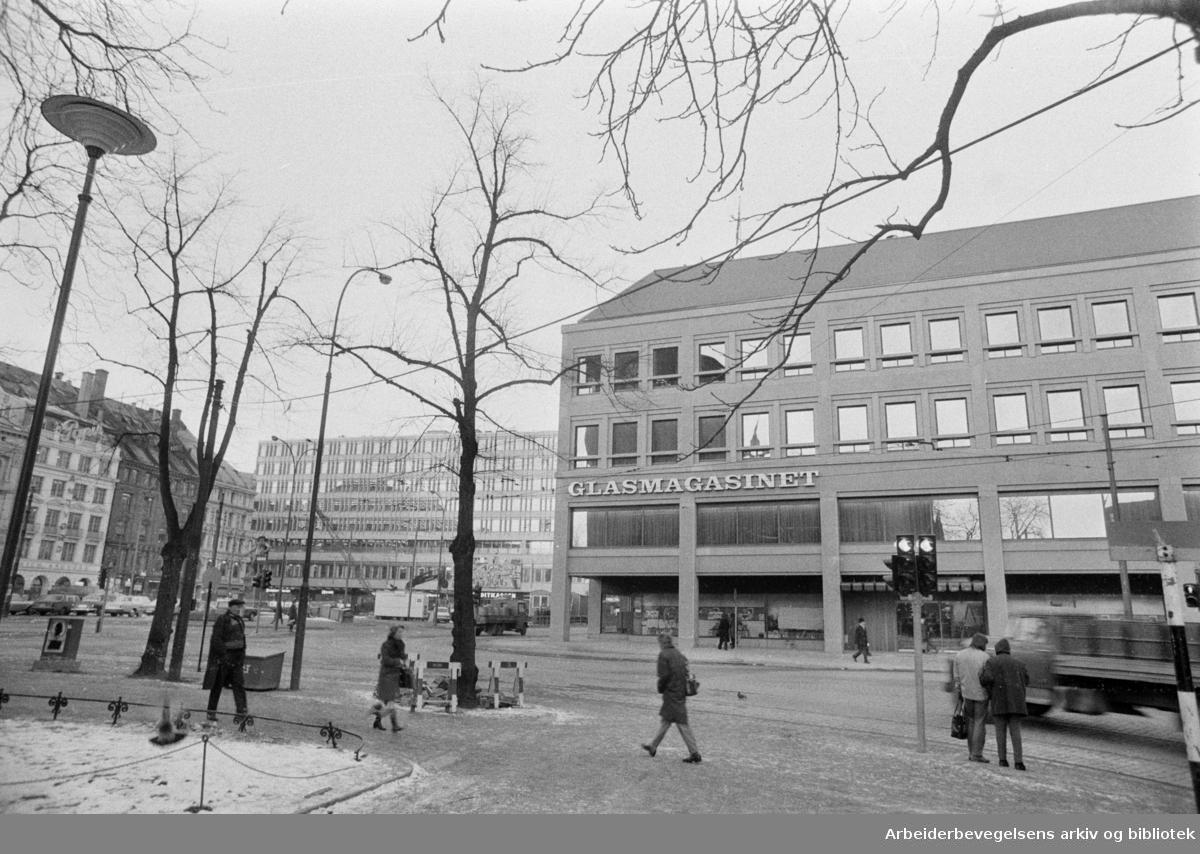 Stortorget: Glassmagasinets nye avdeling. Desember 1973