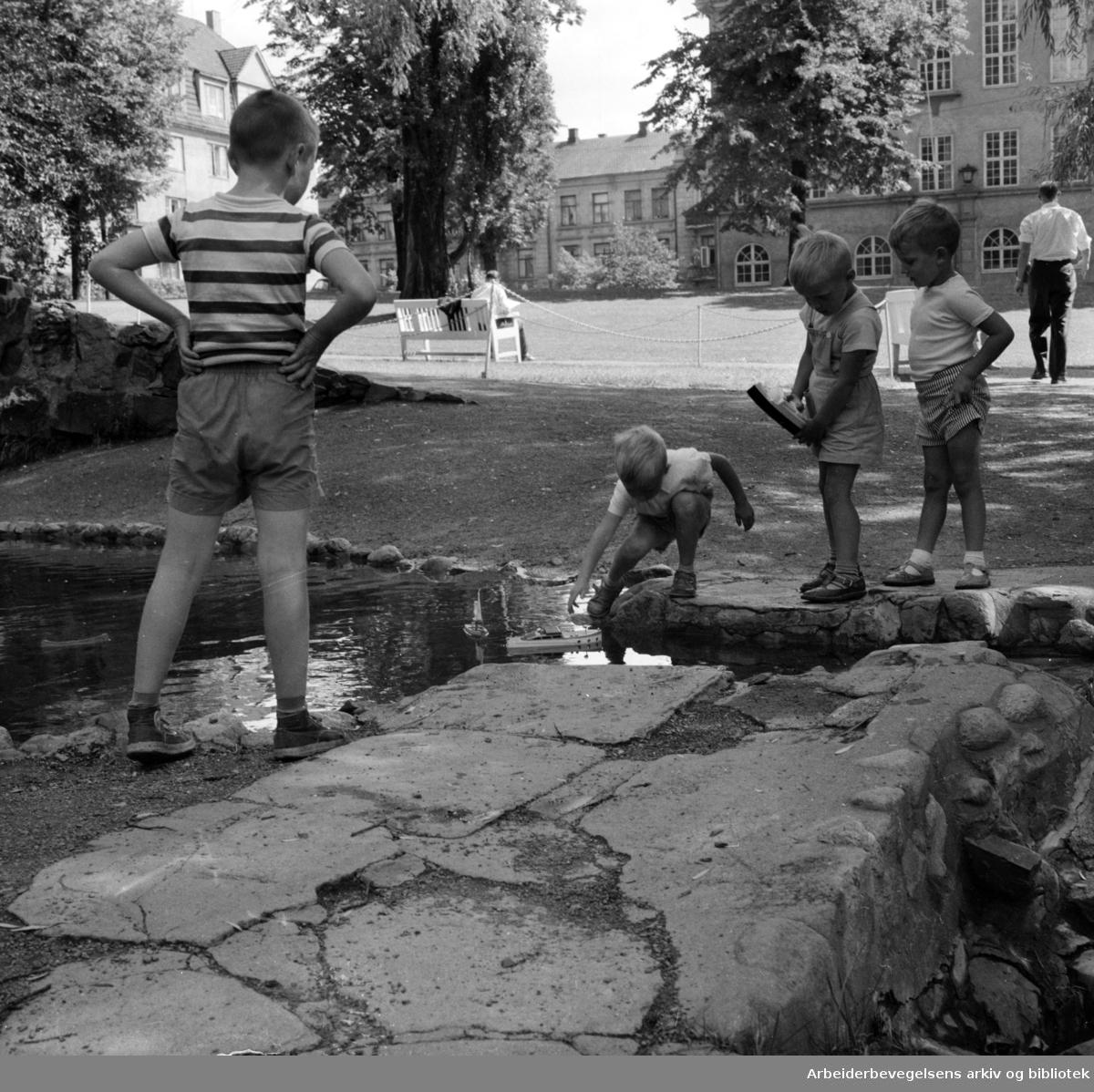 St.Hanshaugen. Juli 1957