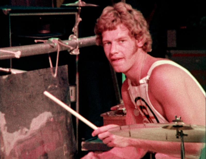 Bill Bruford med King Crimson i New York City, 1973.