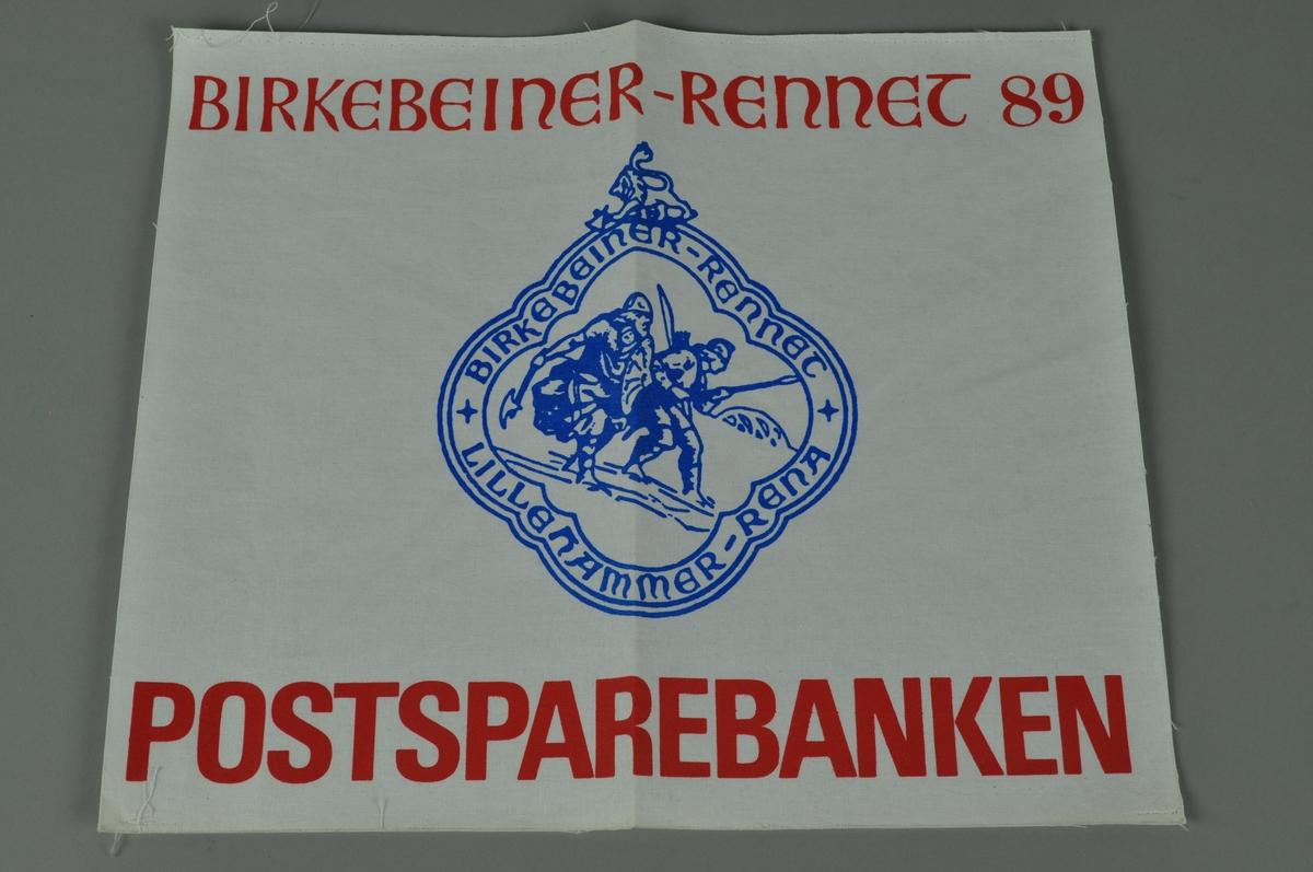 Stoffmerke med logo.
