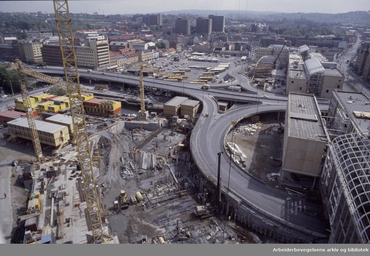 Vaterland. Utsikt fra kranhuset. Juni 1988