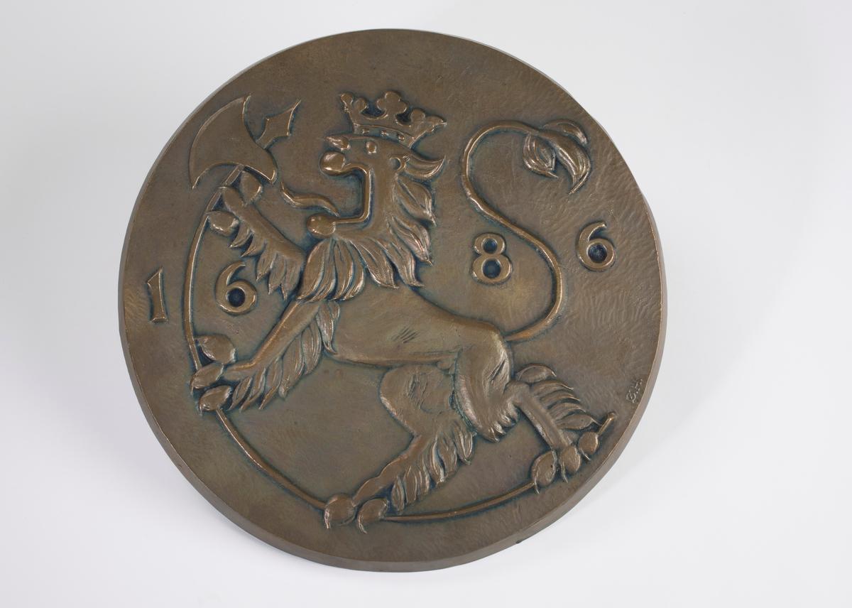 Bronseavstøp av Den Kongelige Mynts jubileumsmedalje.