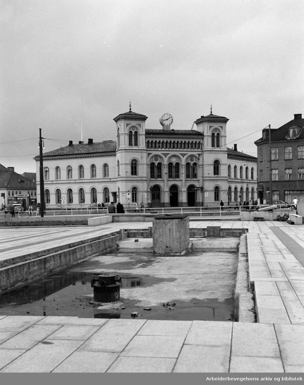 Vestbanestasjonen. Juli 1951