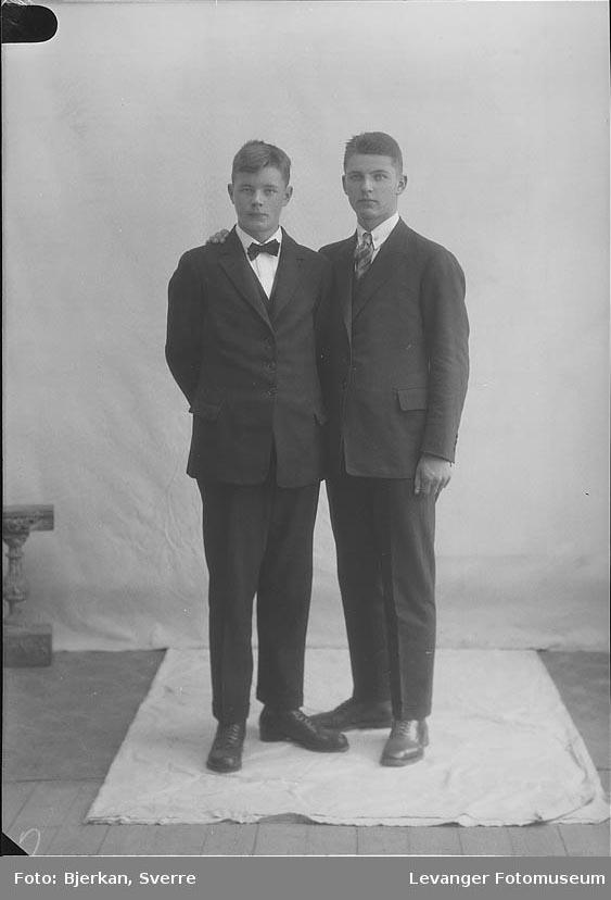 Portrett, trolig av to brødre. Etternavnet er Bjørnstad fornavn ukjent