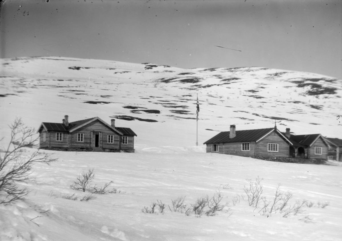 Sjodalen, Bessheim i vinterlandskap, mot vest