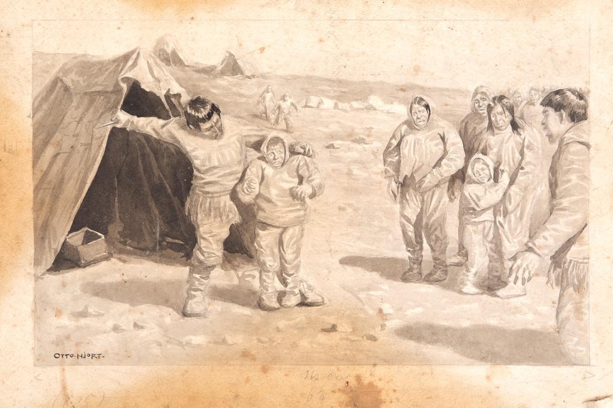 En Chukchi far dreper sin stepton som straff for å drepe sin sønn.