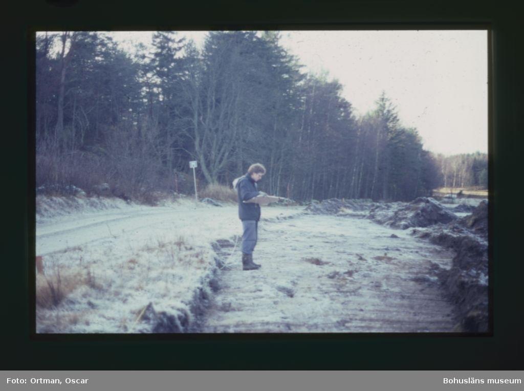 Oscar Ortman dokumenterar förundersökningsschakt, Förundersökning 1990 Norum 161, rikting Nordväst