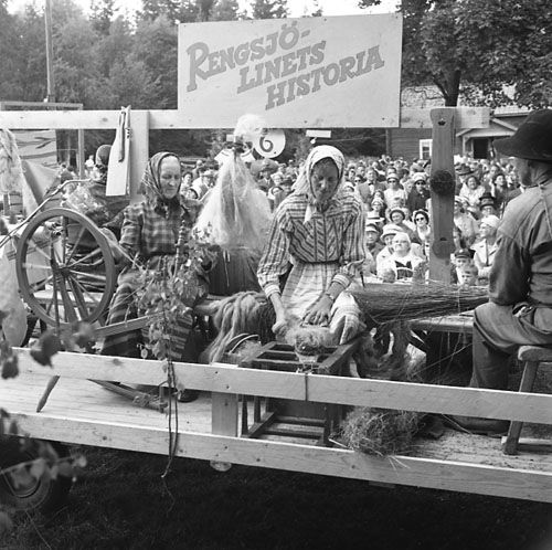 Hembygdsfest med karneval i Rengsjö 22 juli 1962.