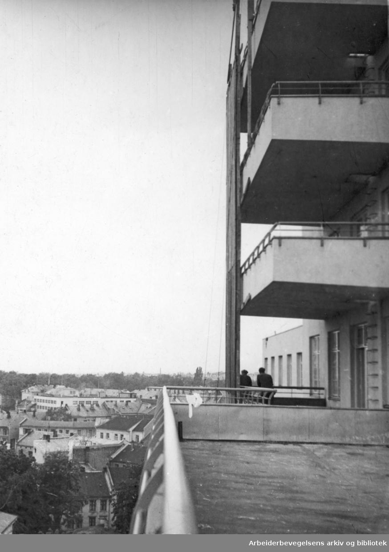 Utsikt fra kirurgisk avdeling ved Rikshospitalet, 1949.