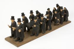 Begravningsfölje  [Skulpturgrupp]