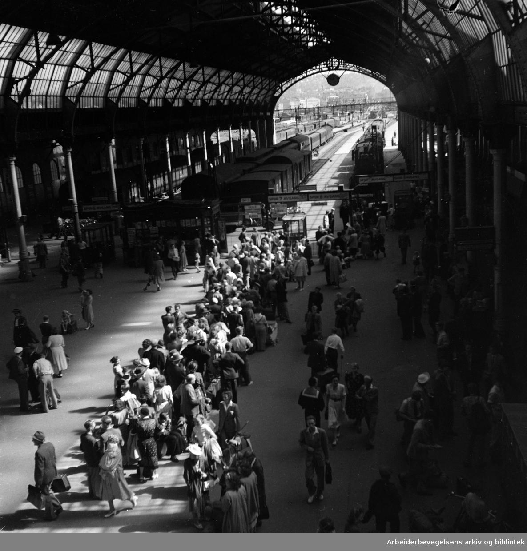 Østbanestasjonen. 1950-årene.