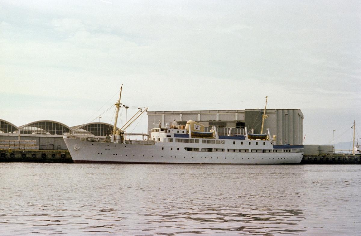 Skoleskipet MS Gann, tidligere nattruteskipet MS Sandnes.