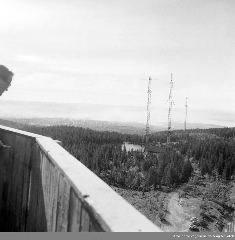 Nordmarka: Utsikten fra Tryvannstårnet. September 1960