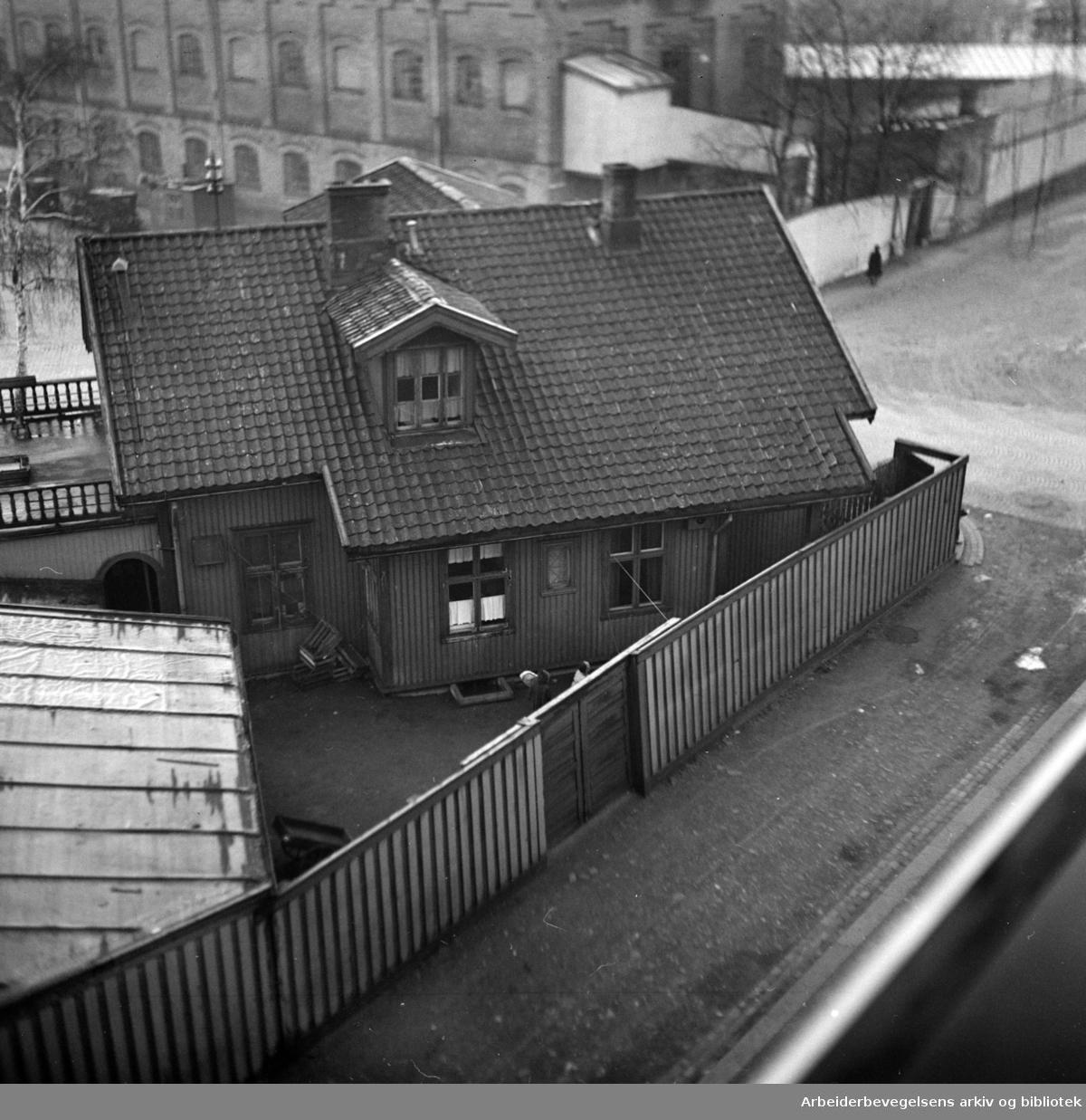 Nordpolen restaurant på Sandaker. Januar 1949