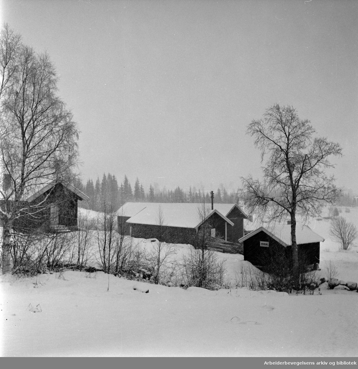 Nordmarka: Bonna gård. Desember 1960