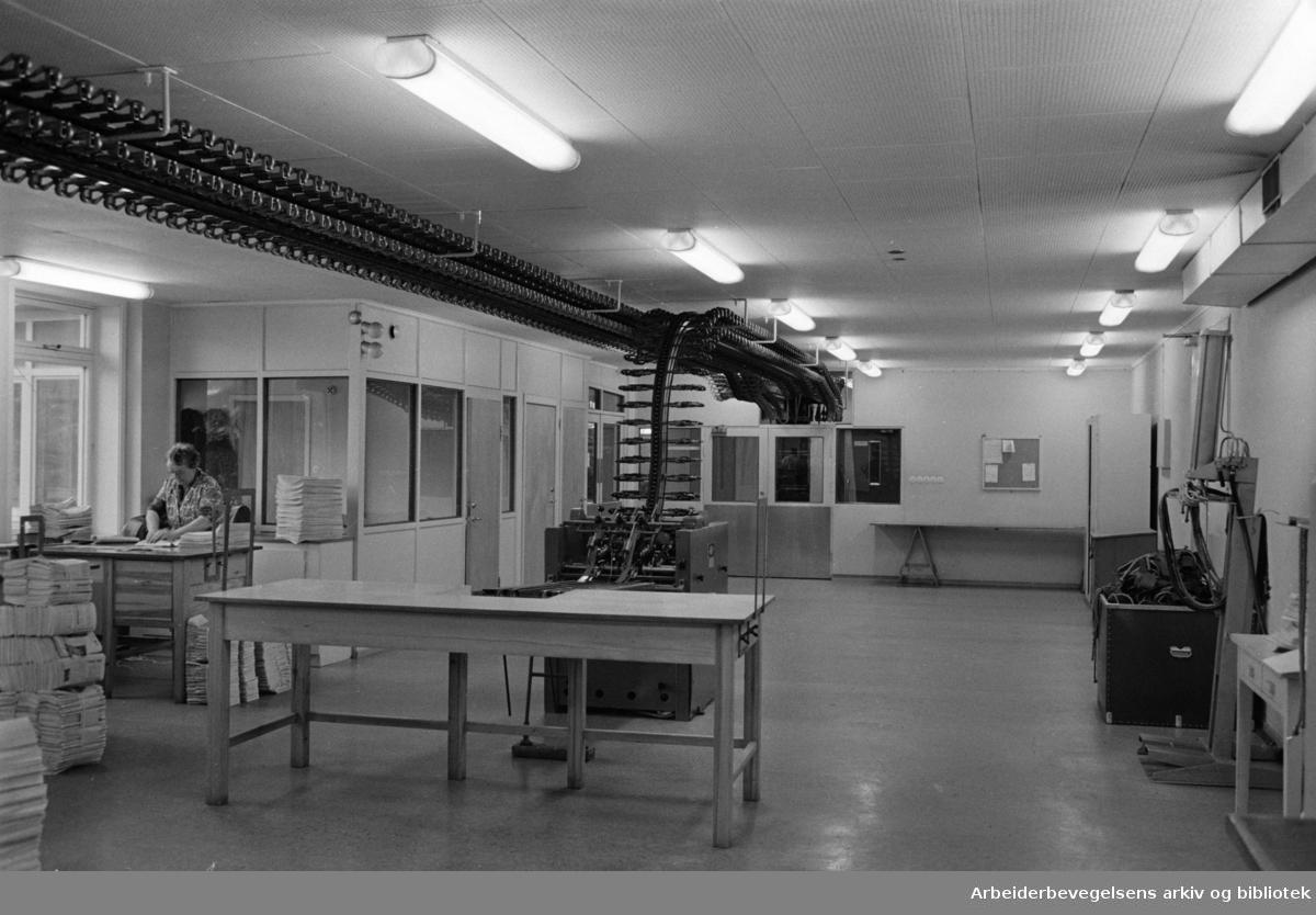 Løren: Arbeidernes Aktietrykkeri. Fra pakkeriet. Januar 1964