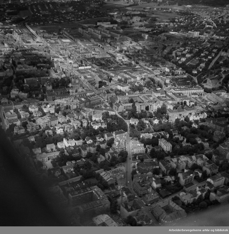 Majorstua - Homannsbyen (flyfoto). Juni 1948