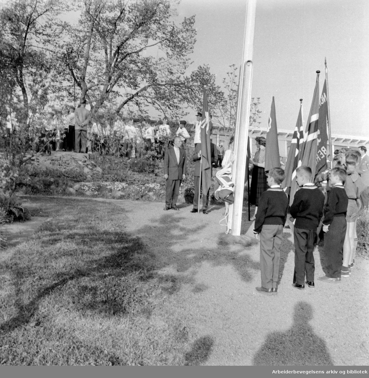 Lambertseter gård innviet. Juni 1958