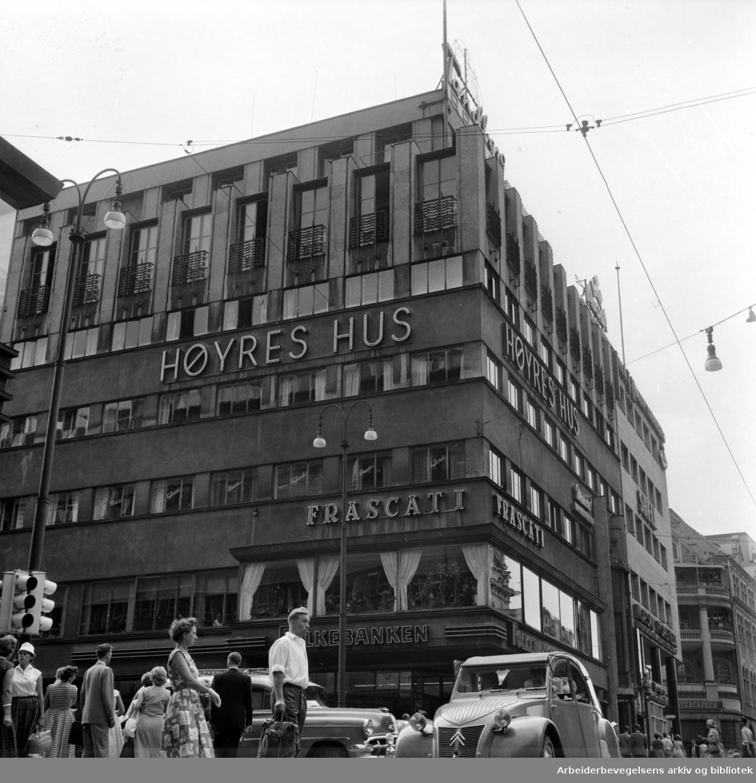 Høyres Hus. Sommer 1959