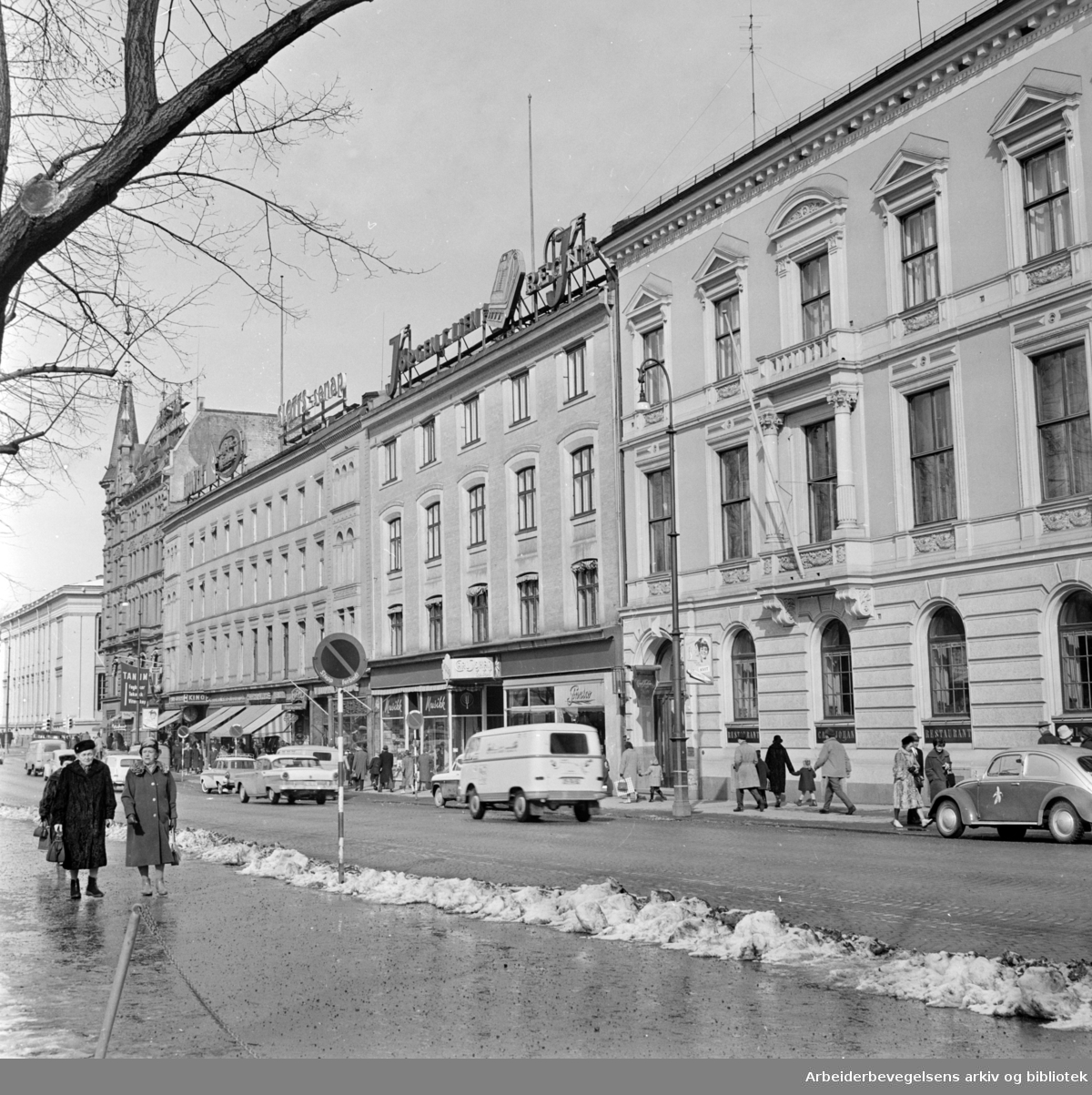 Karl Johans gate. April 1962