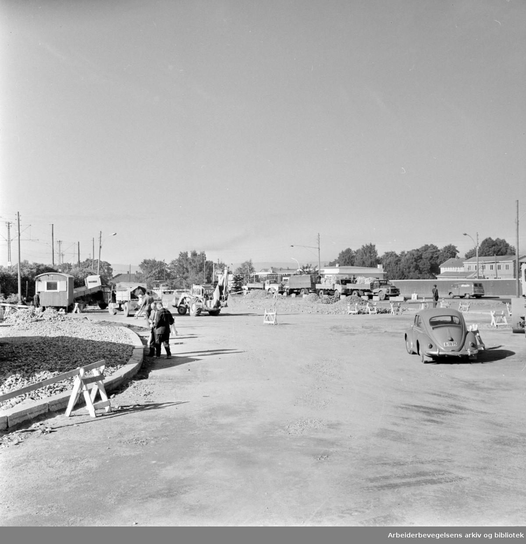Helsfyr. Rundkjøringen. September 1965
