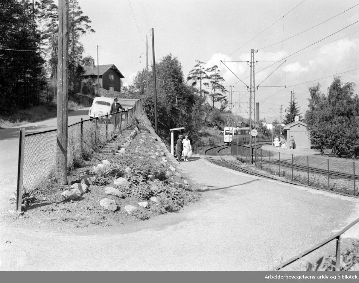 Høyenhall stasjon. Juli 1953