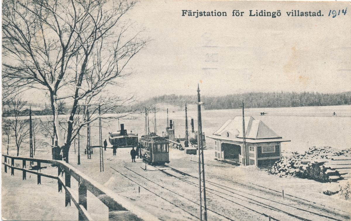 Färjestationen för Lidingö villastad.