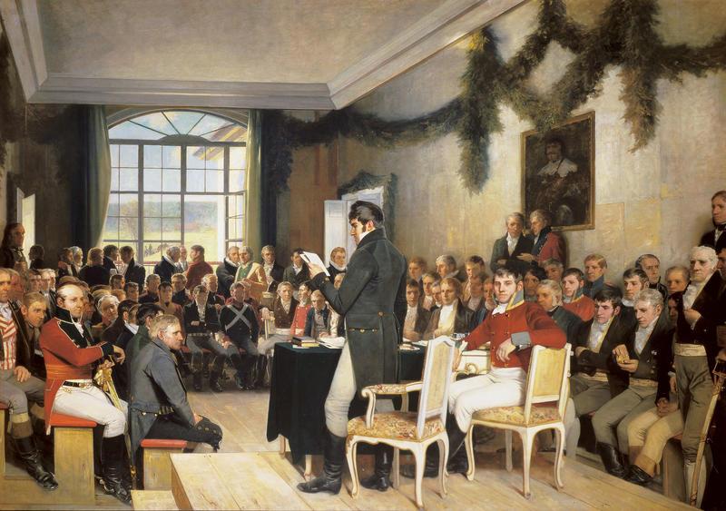 """""""Eidsvoll 1814"""" av Oscar Wergeland"""