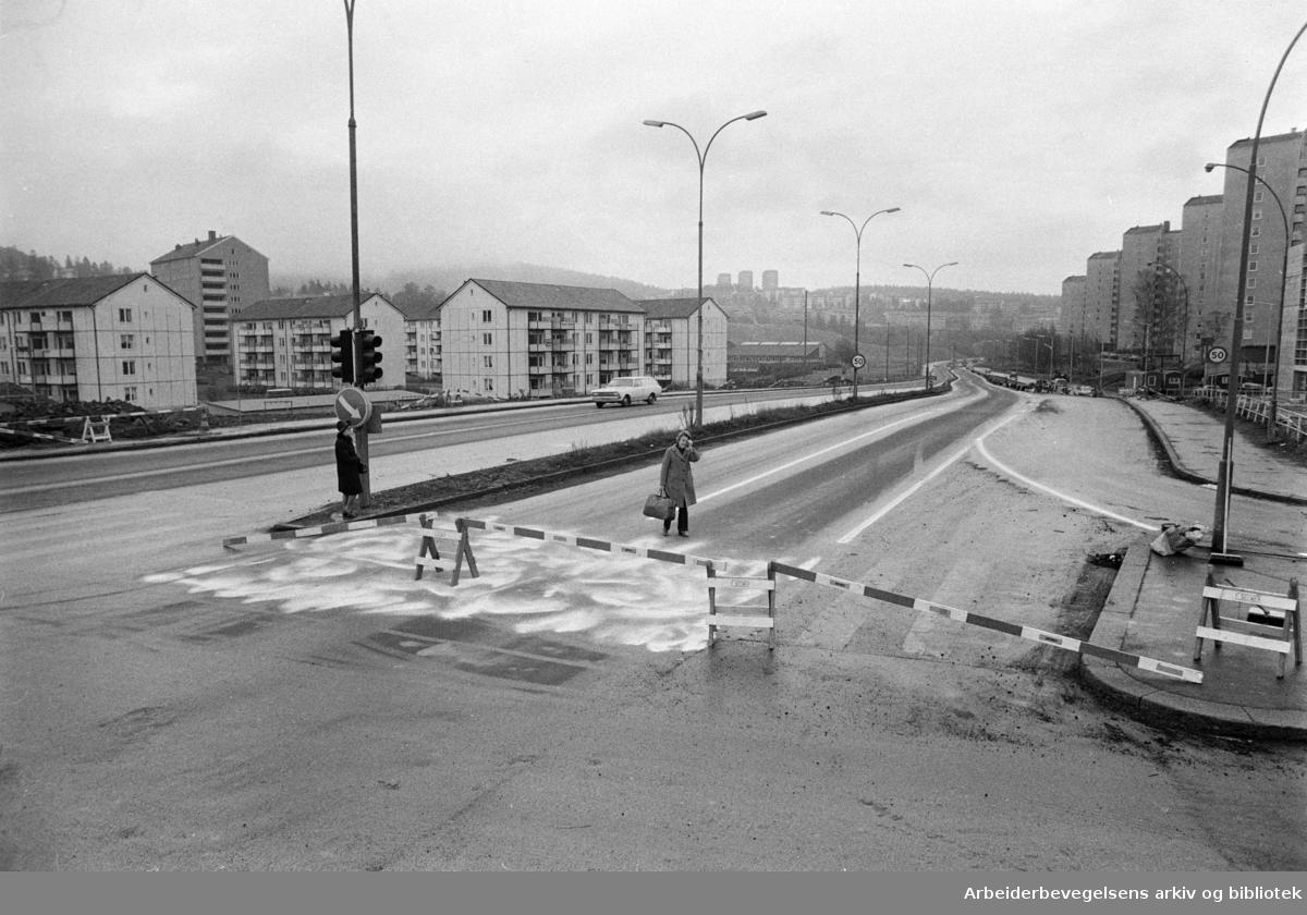 Bjerkekrysset. September 1971