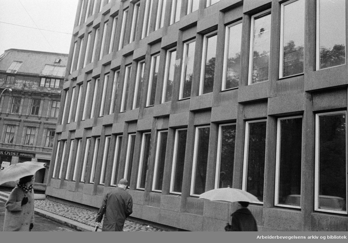 Oslo: Amerikanske ambasade. Eksteriør. Oktober 1967