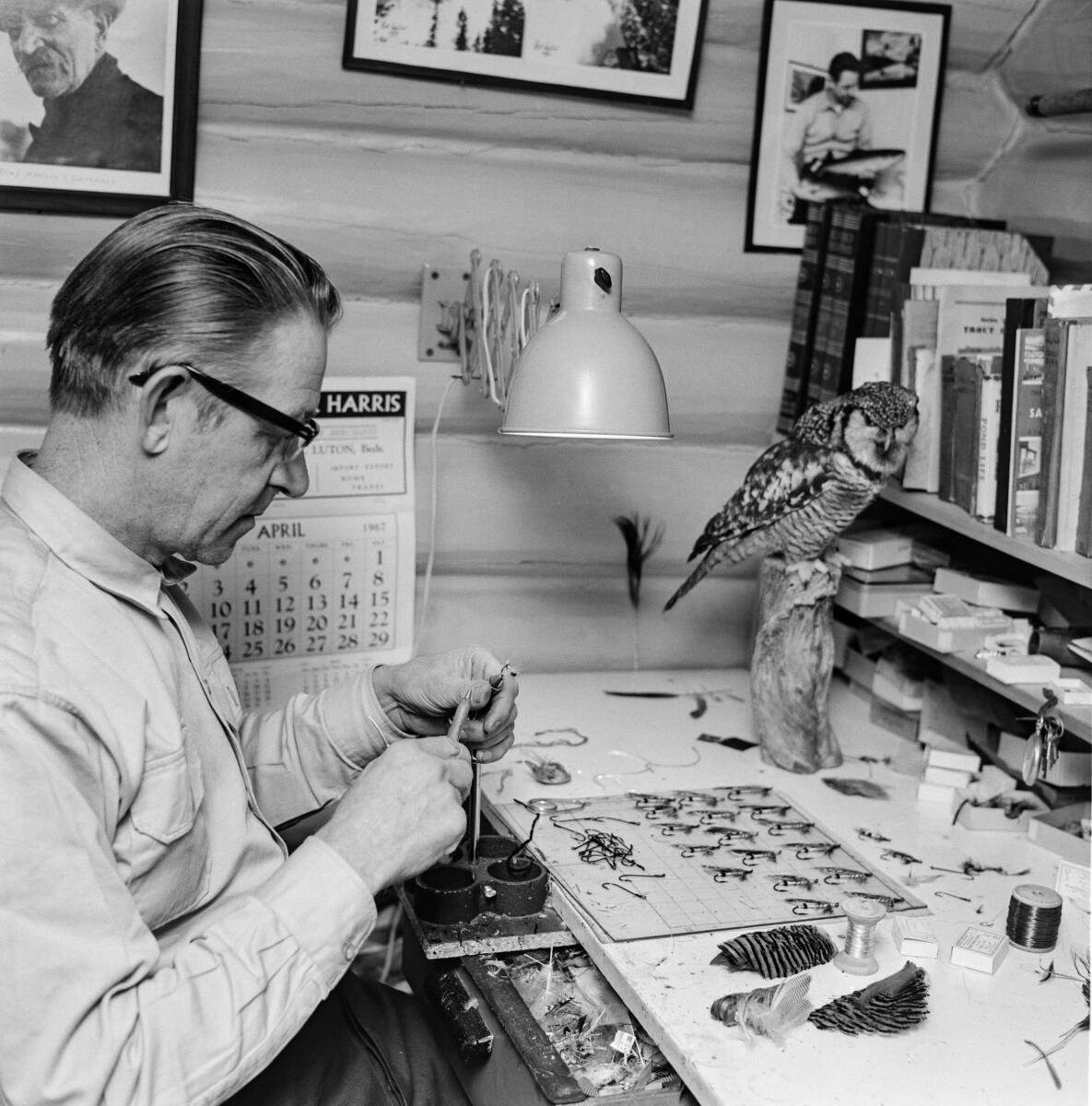 Fluebinder Erling Sand (1917-2002). (Foto/Photo)