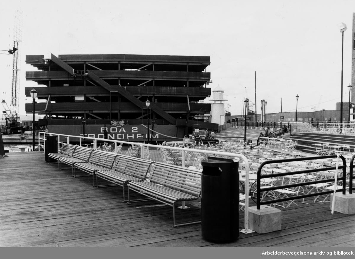 Aker brygge. Mai 1987