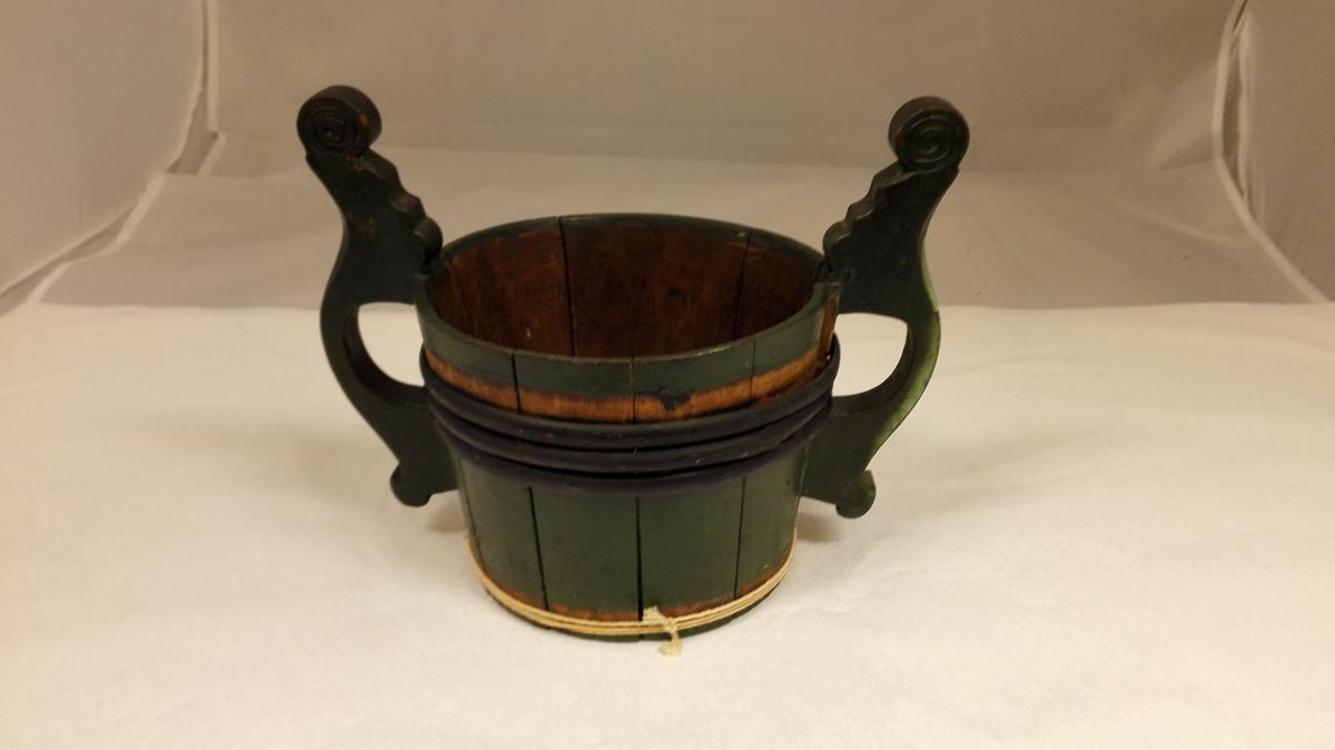 Form: Spannforma ølstaup med handtak