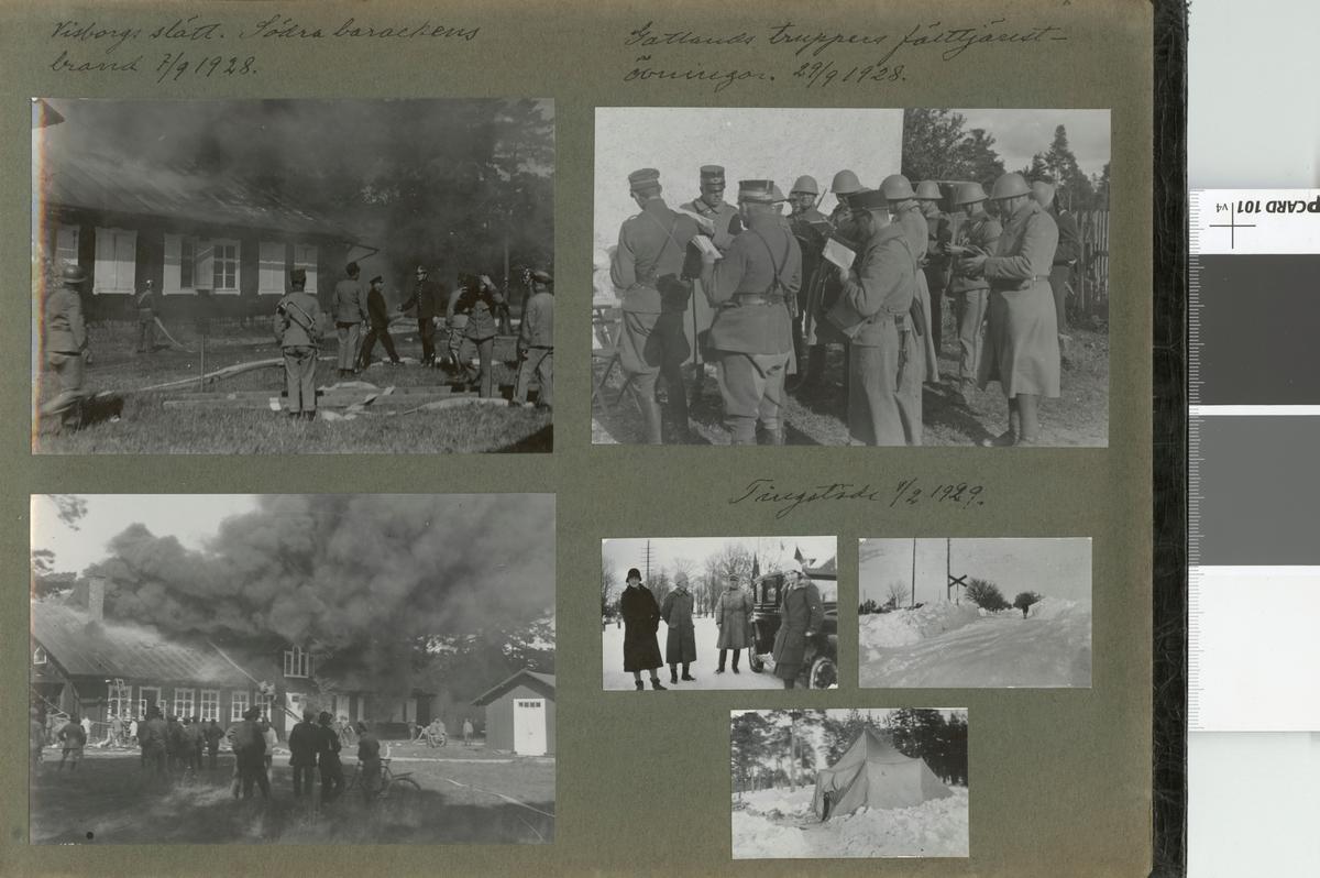 "Text i fotoalbum: ""Tingstäde 1/2 1929""."