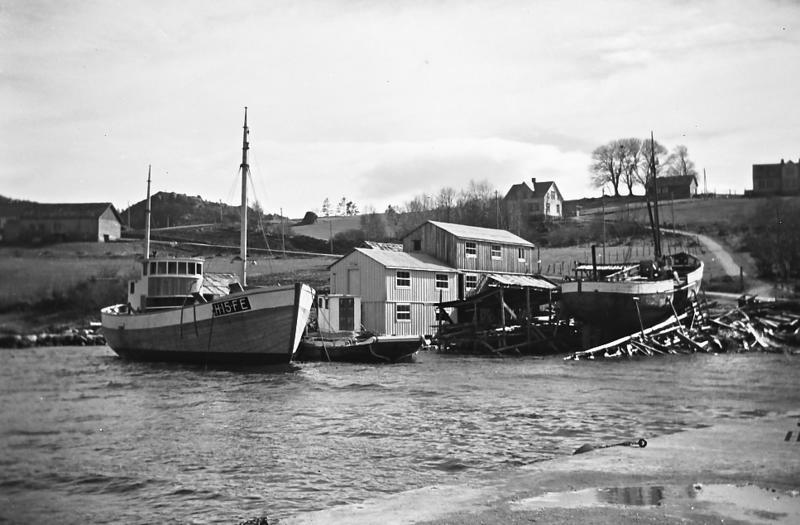 Vita forlenges på Nordhuglo båtbyggeri i 1957
