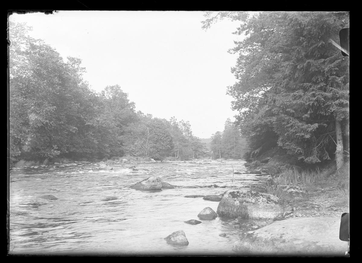 """Ett vattendrag. I fotografens egna anteckningar står det: """"3 plåtar från Floda."""""""