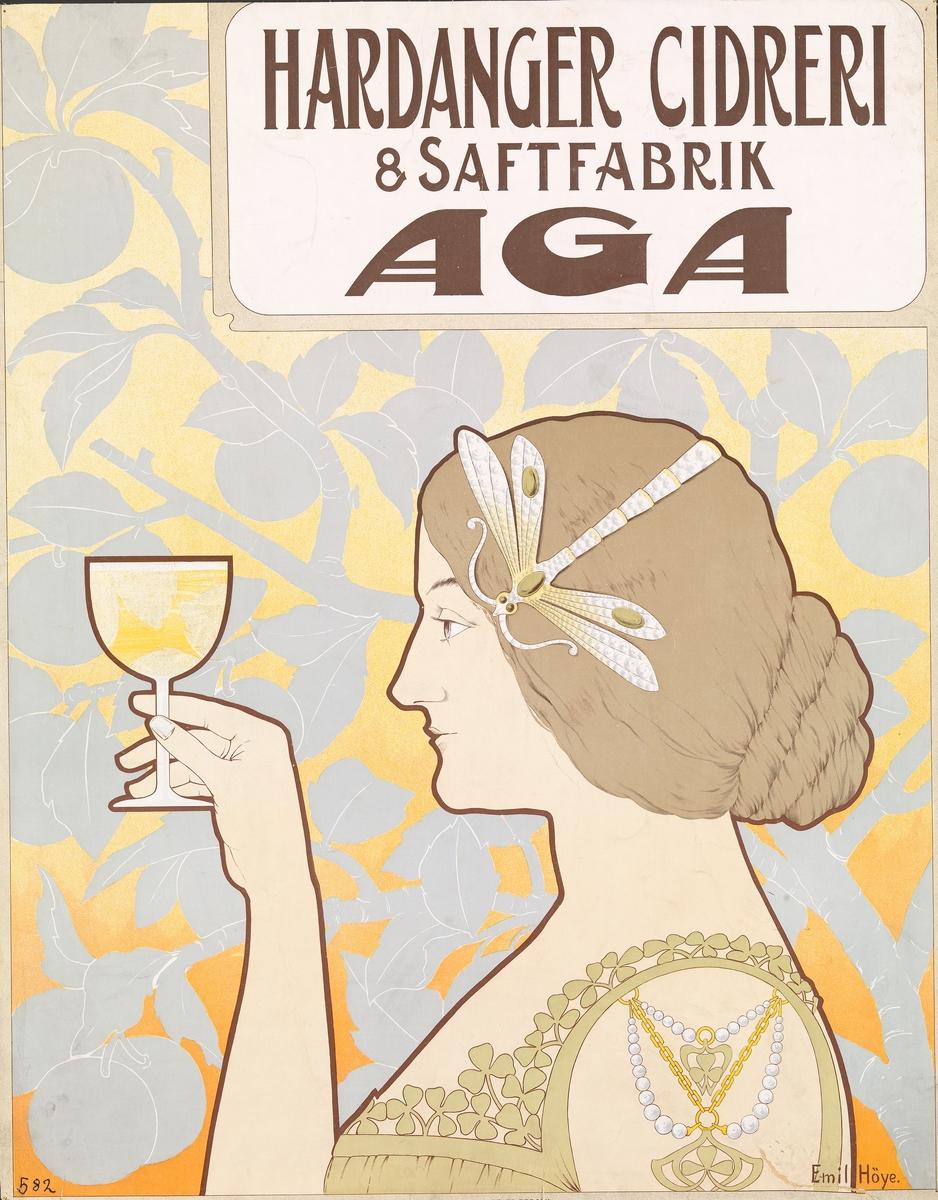 Hardanger Cidreri & Saftfabrik AGA [Plakat]