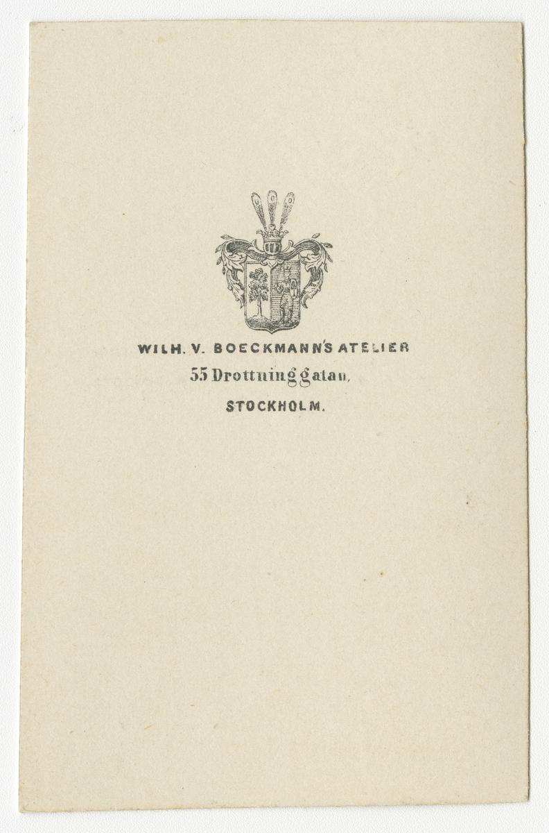 Porträtt av Carl Wilhelm Nordqvist, kapten vid Västgöta regemente I 6.