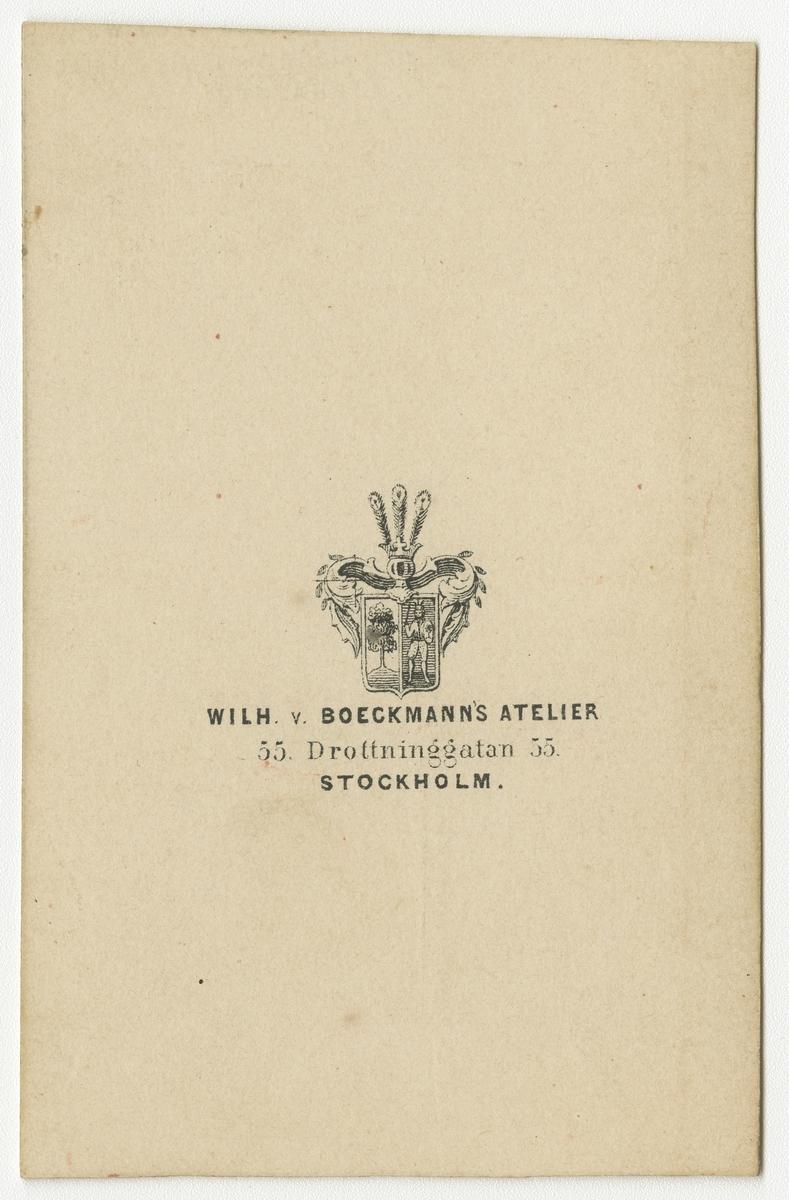 Porträtt av Johan Magnus Alfred Grenander, auditör vid Västgöta regemente I 6.
