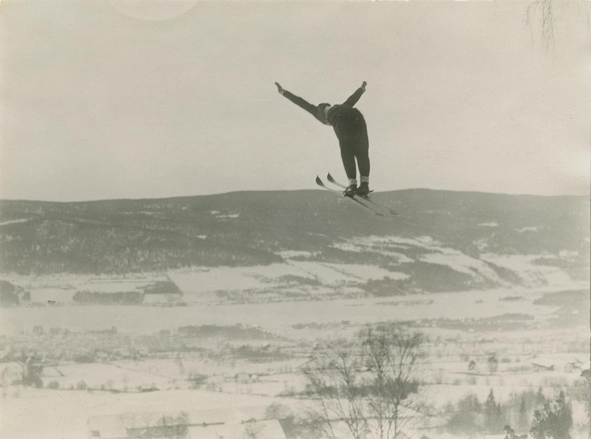 Hopp, ski, mann