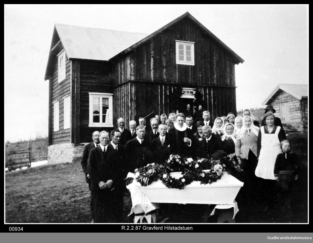 Begravelse Hilstadstuen/Storborga.