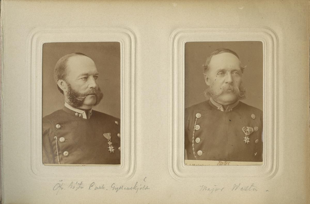 Porträtt av Arvid Theodor Wester, major vid Västgöta regemente I 6. Se även bild AMA.0009291 och AMA.0021910.