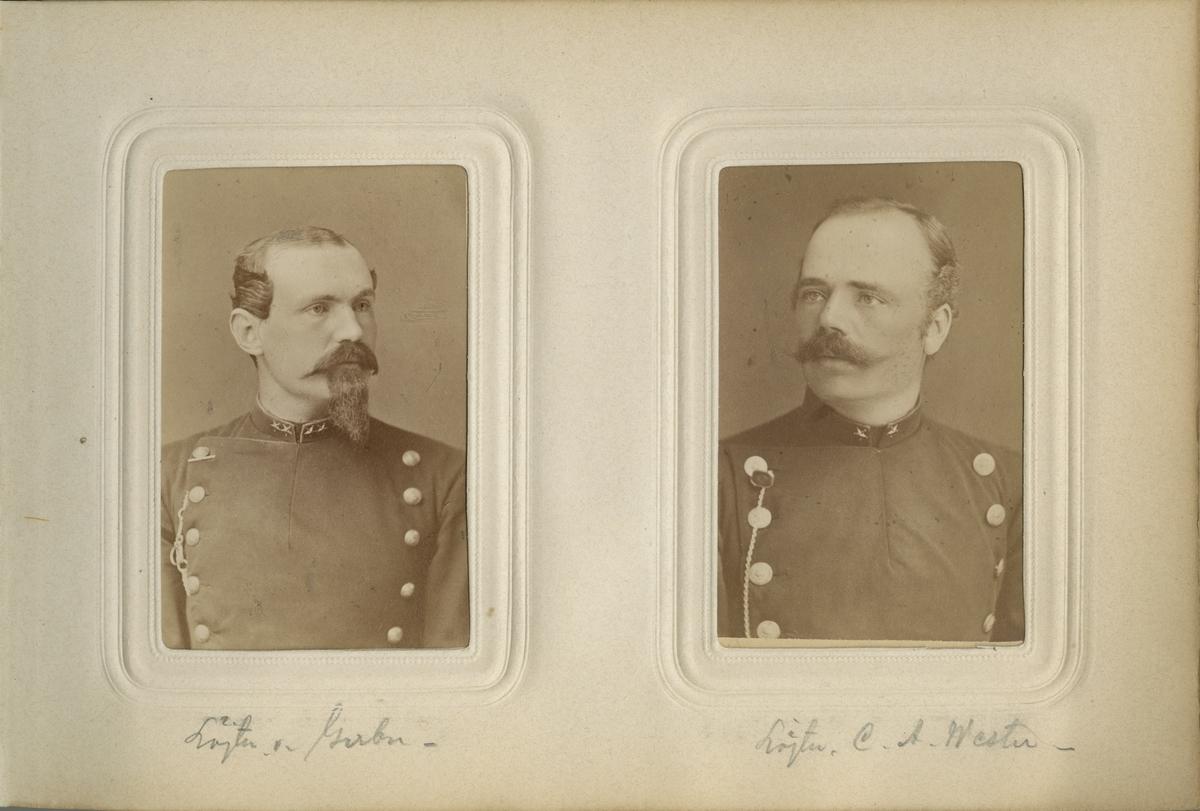 Porträtt av Fritz Anton von Gerber, löjtnant vid Gotlands nationalbeväring.