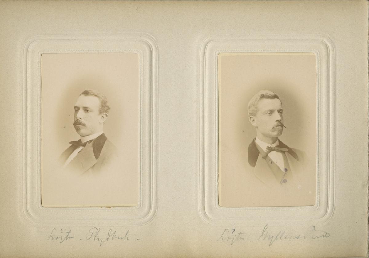 Porträtt av Georg August Gyllensvärd, officer vid Kronobergs regemente I 11.  Se även bild AMA.0007400.