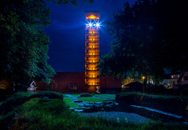 32 meter høyt tårn ved Olavs hall på Borgarsyssel museum. (Foto/Photo)