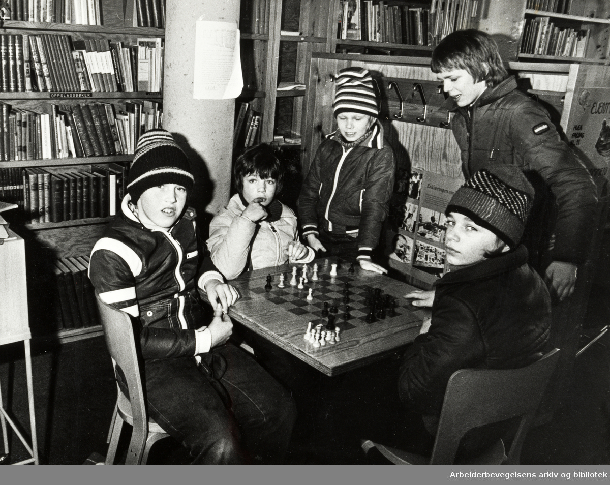 Deichmanske Bibliotek. Bøler filial. Februar 1978