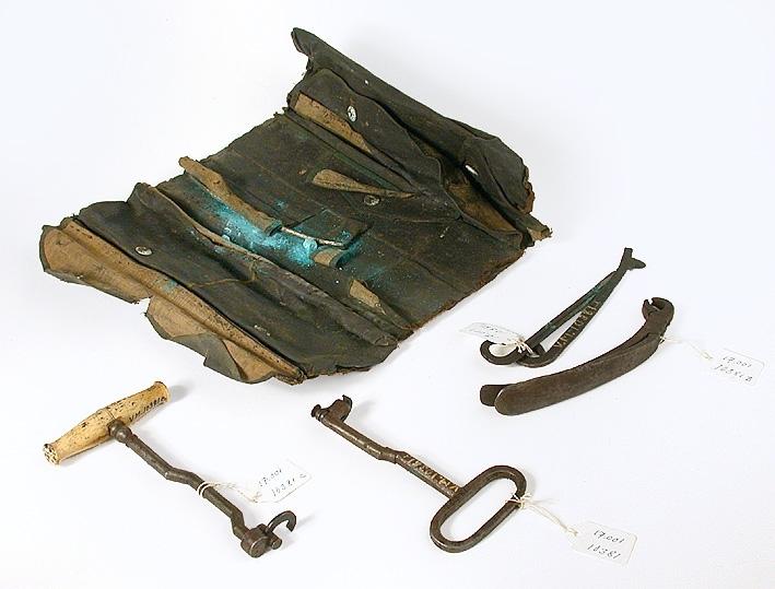 Väska med instrument.