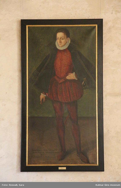 Porträtt av Sigismund i helfigur.