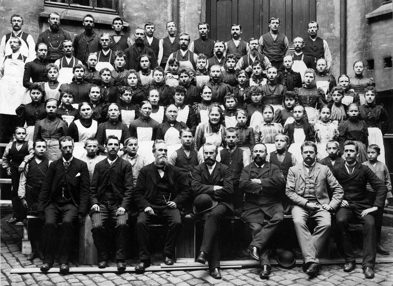 Tiedemann-ansatte fotografert i 1894.