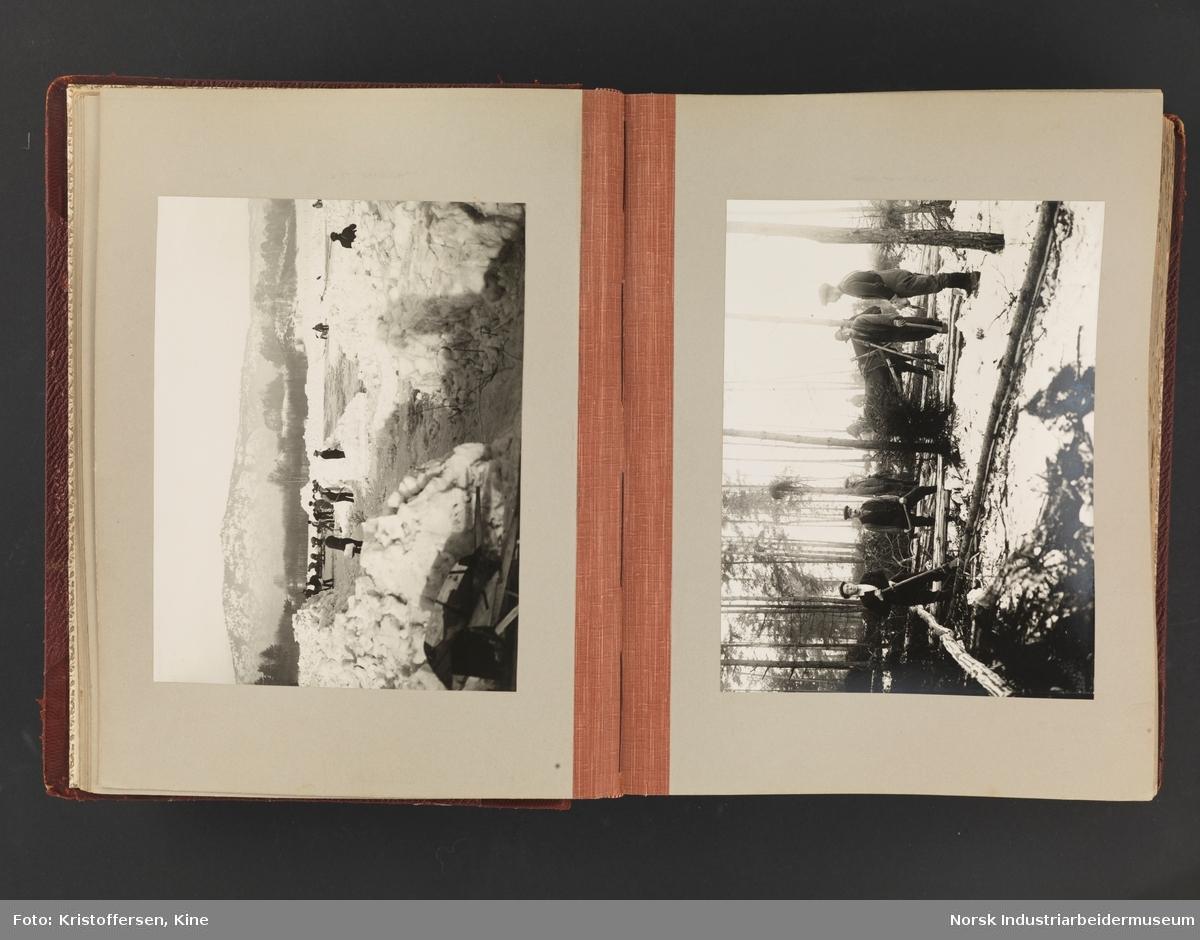 Fotoalbum med 88 sider og 164 innlimte fotografier fra Norsk Hydro på Herøya. Fotografiene viser starten av Eidanger Salpeterfabriker